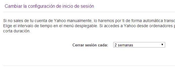 Cambiar la configuracion inicio sesion Yahoo | Iniciar sesion correo - Yahoo! Mail ayuda