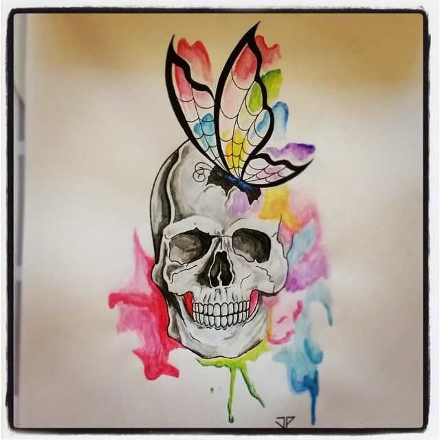 #tattoo #tatuaggio #ink #inkedup #instatattoo #tattooitalia #tattoofreak #tattooinstagram #butterfly #butterflytattoo #farfalla #farfallatatuaggio #skull #skulltattoo #teschio #teschiotatuaggio #watercolor #acquerello #drawing #pencil #joetattoo