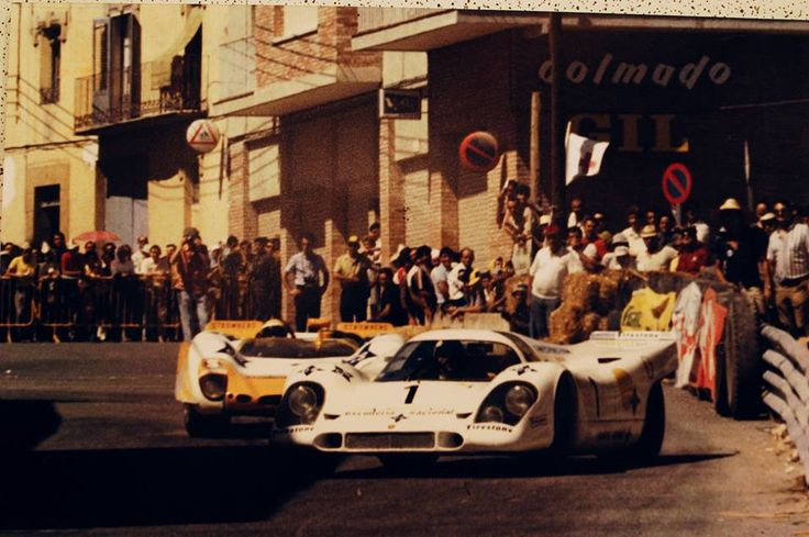1970 Alcañiz Spain with Alex Soler Roig Porsche 917 and Jorge de Bragation Porsche 908
