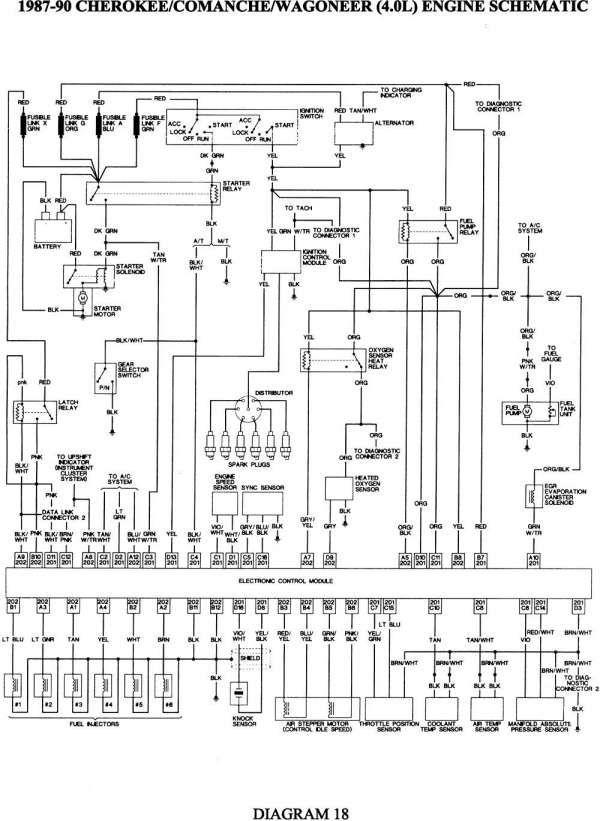 18 1997 jeep cherokee engine wiring diagram  engine