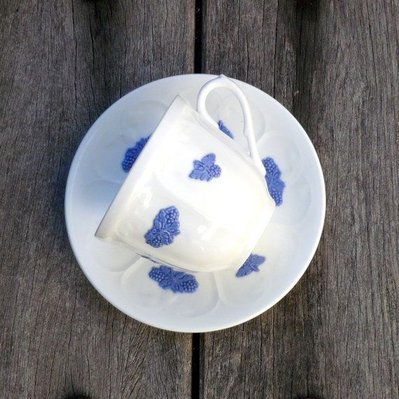 Blue And White Teacup And Saucer Swedish Porcelain by CostaSul, €12.75