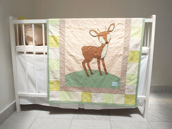 woodland nursery bedding custom made to by LoveColorsByJulianna