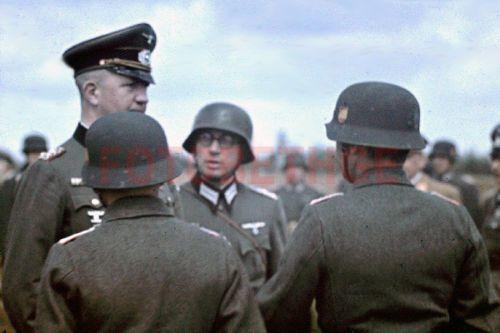 Agfacolor-color-dia-1941-general-espanola-voluntarios-azules-Division-Grafenwohr