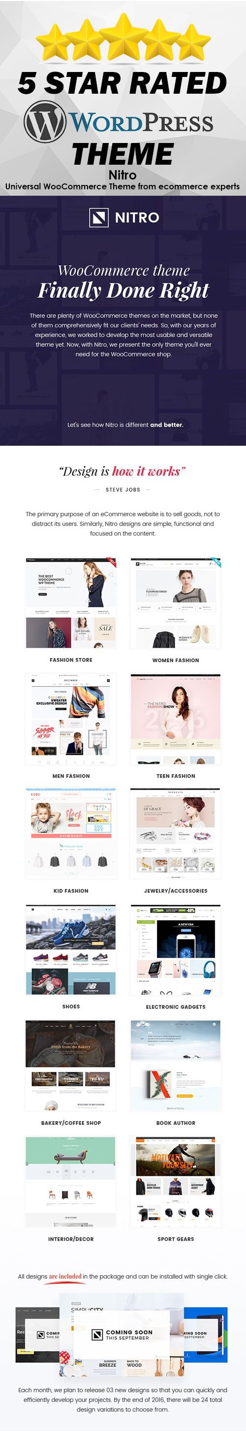 Woocommerce Wordpress Theme finally done right! There are plenty Woocommerce themes on the market, but none of them comprehensively fit our client's needs. This is the only Wordpress theme you'll ever need for your online shop.