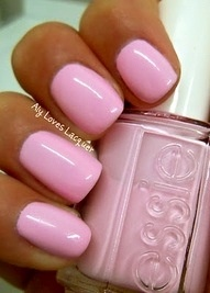 Light pink nails...