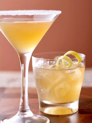 This traditional brandy-based cocktail is usually topped off with orange liqueur and lemon juice, then served in a sugared glass with a twist of lemon.
