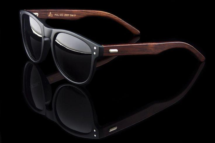 "Polarized Wood Wayfarer Sunglasses ""Allen"""
