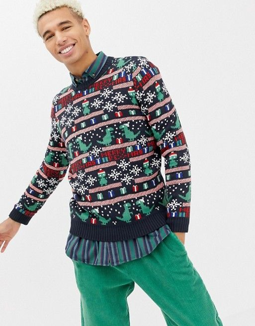 823353a50f Only   Sons christmas sweater with novelty fairisle