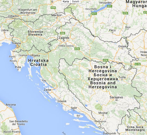 Karta Hrvatske Satelitska i Interaktivna karta Mostar