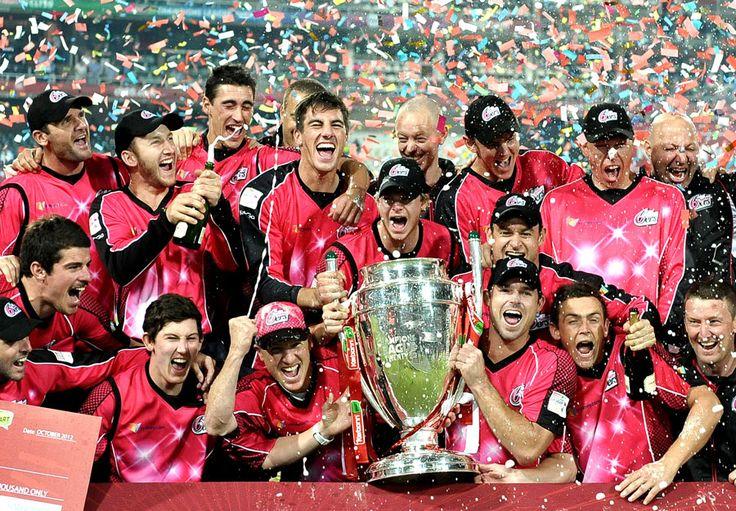 Sydney Sixers celebrate their CLT20 triumph, Lions v Sydney Sixers, final, CLT20, Johannesburg, October 28, 2012