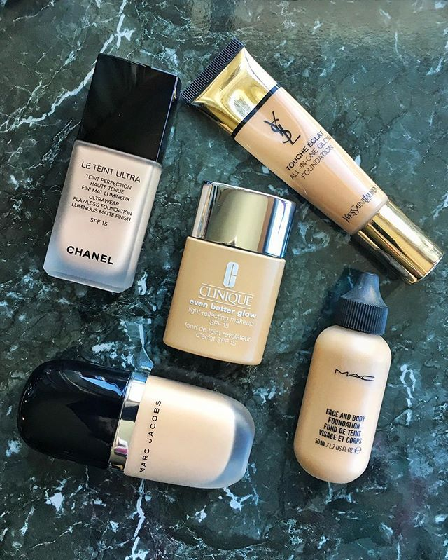 If there is such a thing as multi-foundationing or foundation-layering  then I may be guilty as charged. I love to blend colors apply different textures to different areas of face correct or highlight with a specific formula... These are among the ones im (re)currently wearing. What are your fave winter foundations peeps? Lemme know!  #foundationroutine #foundationaddict #foundationtest #fonddeteint #makeuplove #beautytest #beautyeditor #bblogger #beautyairlines