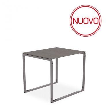 €126 ZEN L #tavolino per il #living, ottimo affianco al #divano, realizzato in metallo cromato con il piano in #ceramica, #design #moderno, in #offerta #prezzo su www.chairsoutlet.com