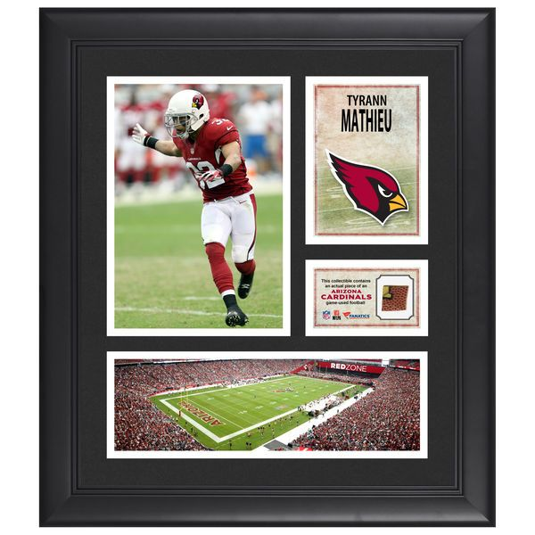 "Tyrann Mathieu Arizona Cardinals Fanatics Authentic Framed 15"" x 17"" Collage with Piece of Game-Used Football - $79.99"