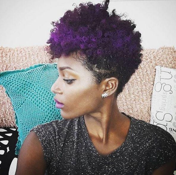 Image Result For Short Dark Purple Afro Afros Pinterest