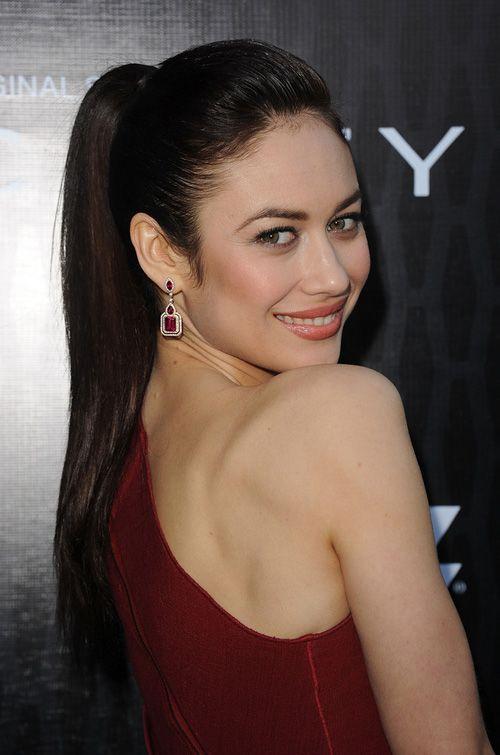 Olga Kurylenko Ponytail Hairstyles