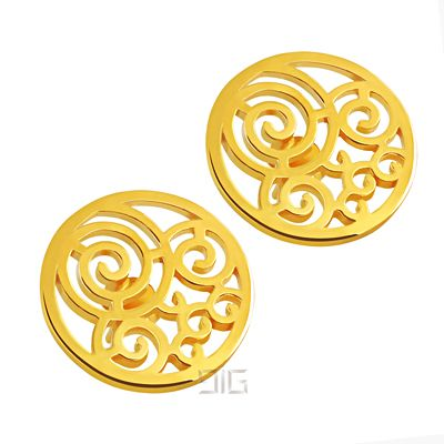 "Gold Plated Earrings ""Spiral"""