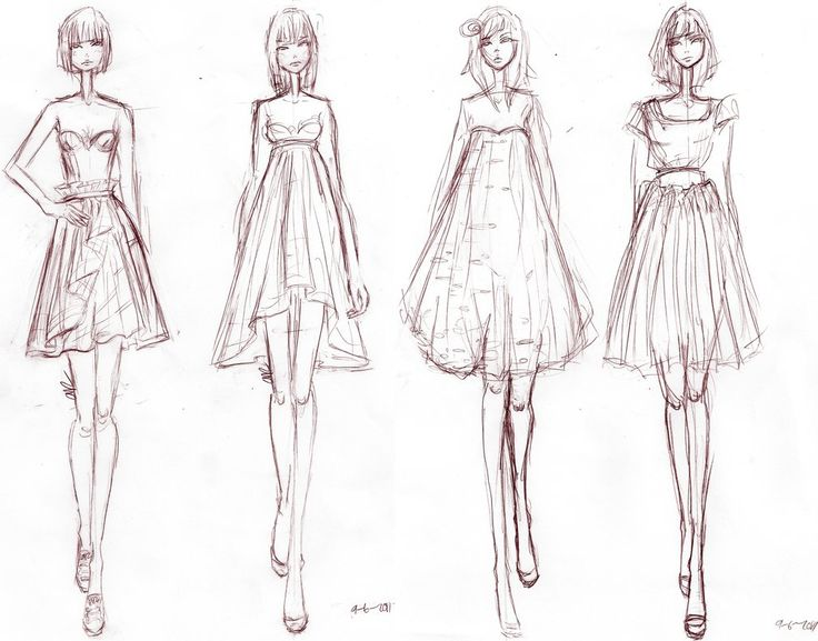 In Fashion Design How To Draw Sketches