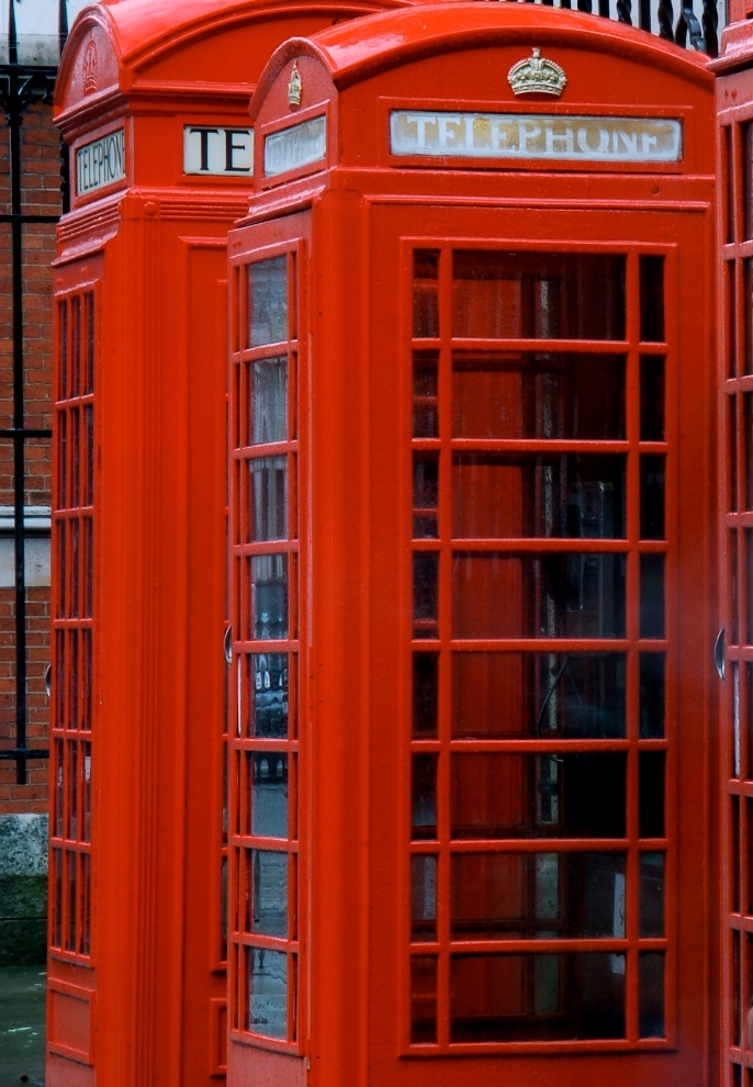 London for their colorful phone booths ❤