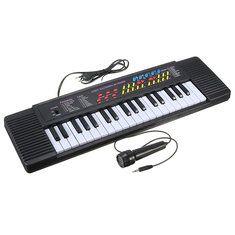 #Banggood 37-клавишная клавиатура Электронная цифровое пианино для начинающих игрушка в подарок с микрофоном (1132866) #SuperDeals