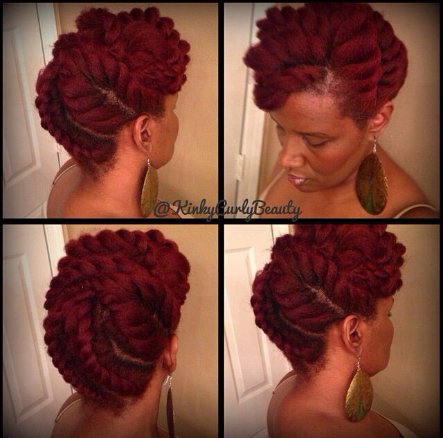NATURAL HAIR UPDO #KINKYCURLYBEAUTY: Flats Twists Updo, Colors, Beautiful, Braids, Hair Style, Hair Care, Natural Style, Natural Hairstyles, Protection Style