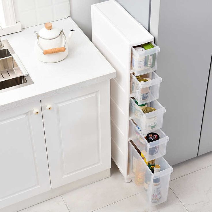 Bathroom Storage Cabinet, Bathroom Toilet Slim Floor Cabinet Narrow Storage Cupboard With Drawers