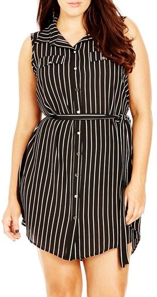 Plus Size Women's City Chic 'Lunch Date' Tunic, Size X-Small - Black