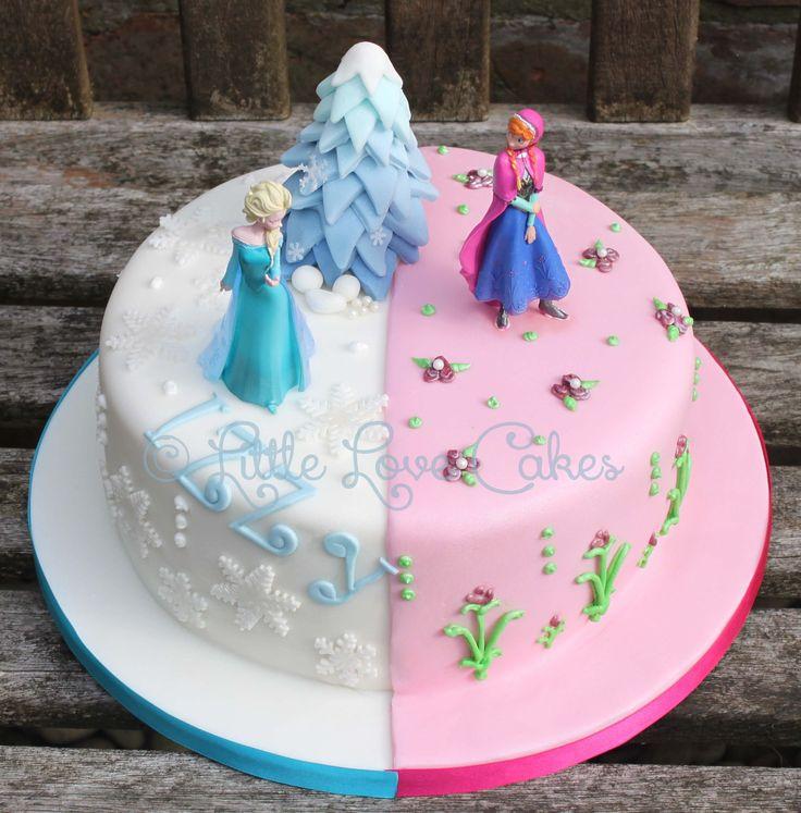 Deliciosa pastel para fiesta de cumpleaños Frozen