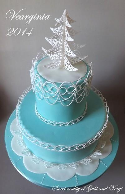 Vanocni v Tiffanyho barvach | dorty od mámy