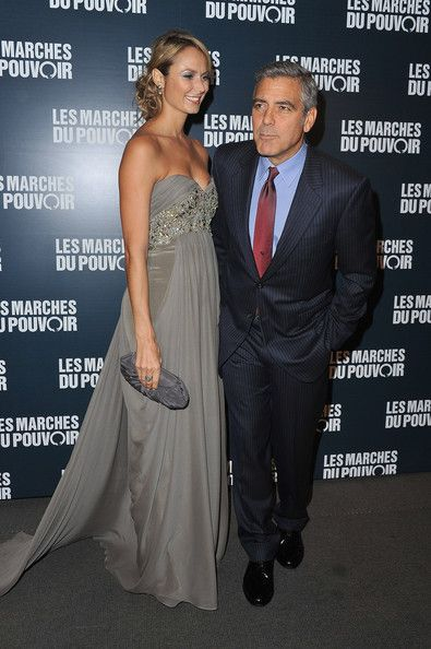 Stacy Keibler Evening Dress - Stacy Keibler looked romantic in a smoky gray evening dress for the premiere of 'The Descendants.'
