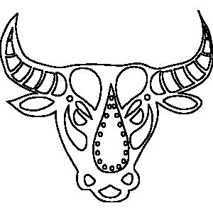 ornate taurus zodiac coloring page