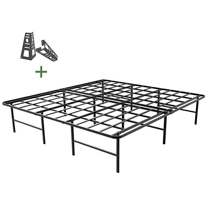 45minst 16 Inch Platform Bed Frame 2 Brackets Included Mattress