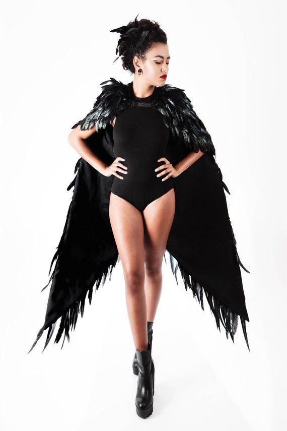 2506f18fab Black Swan Feather Wings Cape in 2019 | Products | Halloween fashion ...