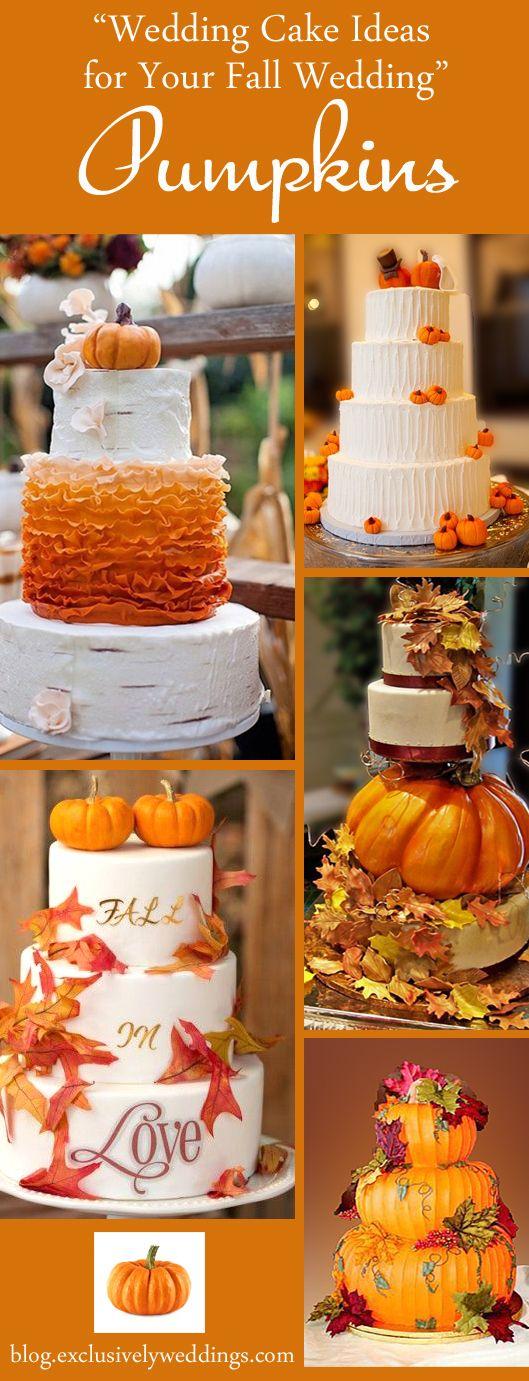 Wedding Cake Ideas for Your Fall Wedding - Pumpkins