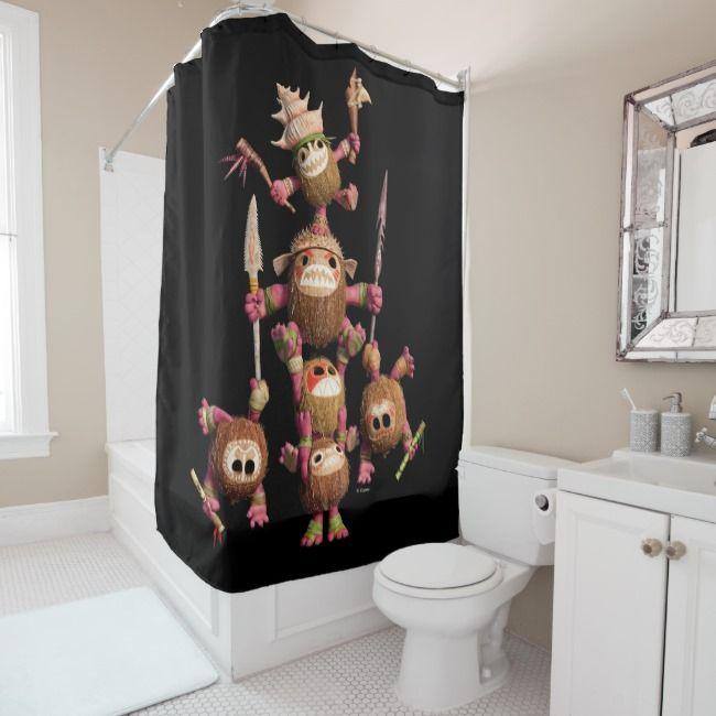 Moana Kakamora Coconut Pirates Shower Curtain Ad Ad Coconut Pirates Shower Shop Moana Shower Curtain Curtains Custom Shower Curtains