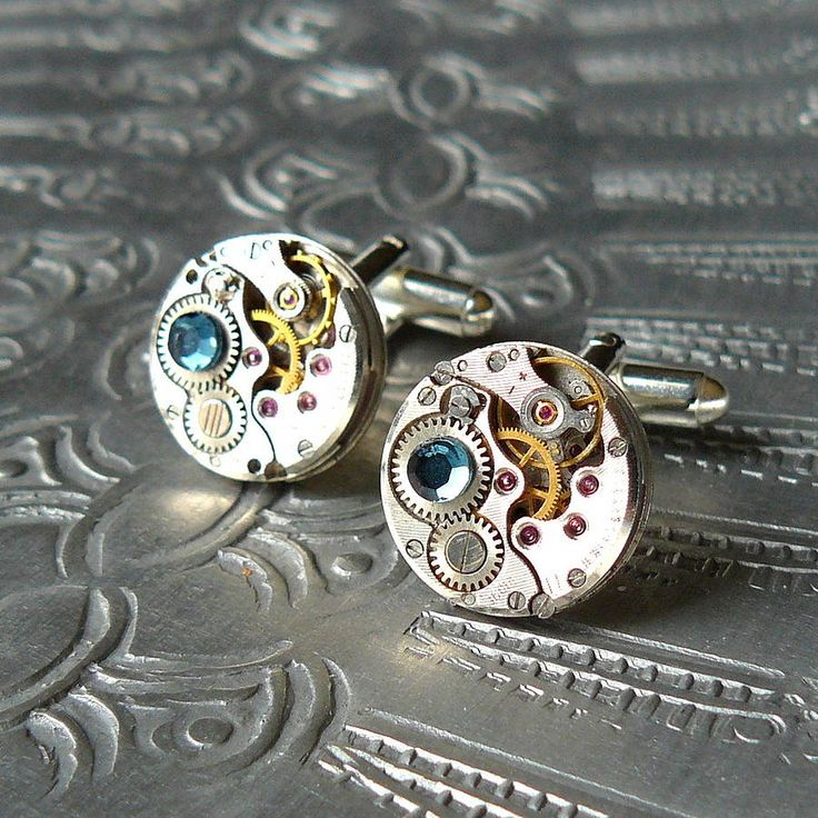 round watch movement cufflinks by pennyfarthing designs | notonthehighstreet.com