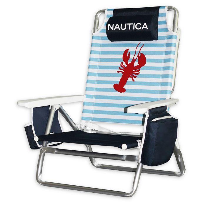Nautica 5 Position Beach Chair Bed Bath Beyond Backpack Beach Chair Beach Chairs Beach Equipment