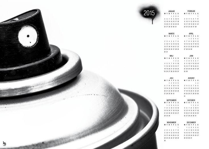 2015 Kalender med brugt Spraydåse, super sej til drengeværelset!