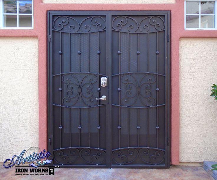 Best wrought iron security doors images on pinterest