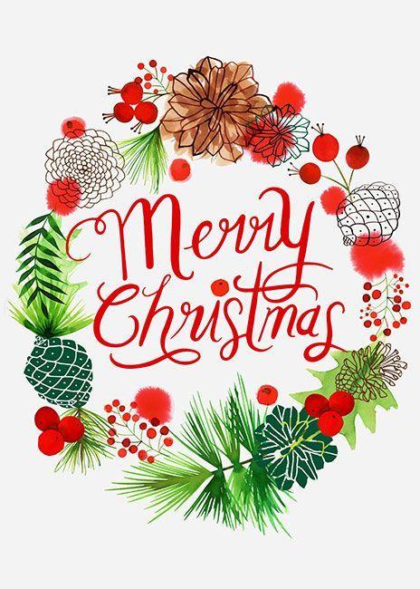 Margaret Berg Art: Merry+Christmas+Pine+Cones+Wreath