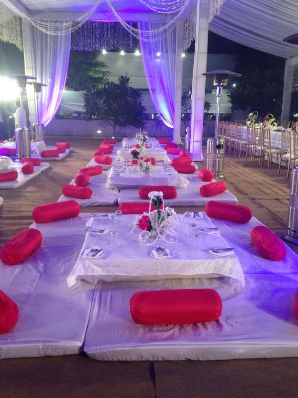 Wazwan seating arrangement