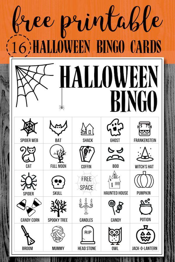 Halloween Bingo Printable Game Cards Template Paper Trail Design Halloween Bingo Halloween Bingo Printable Halloween Bingo Cards