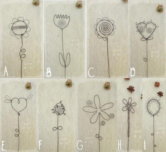 fleurs pour composer soi-même un bouquet végétal - en fil de fer