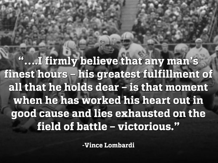 Vince Lombardi - we need this as a poster at work!! Vince Lombardi's Legendary Bar  Grill! Fitting - ❤️
