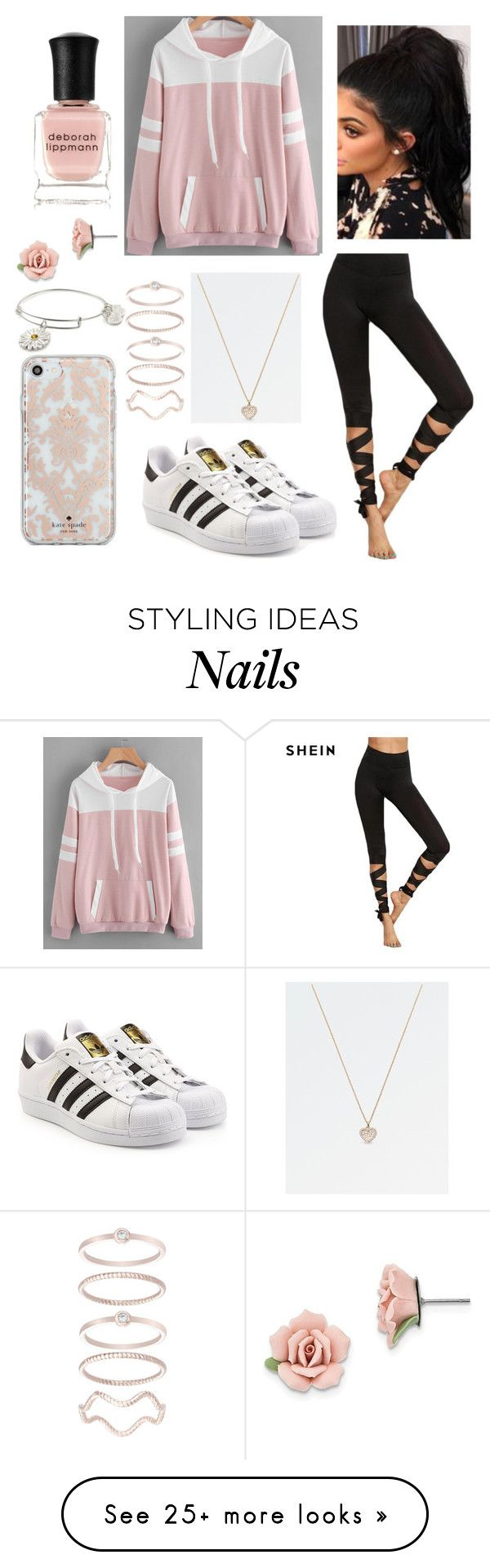 """Pastel Sweaters contest #3"" by mina-lisha on Polyvore featuring adidas Originals, Kate Spade, Mia Sarine, Alex and Ani, 1928 and Deborah Lippmann"