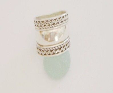 Plain silver wide ring. Hippy chic modern