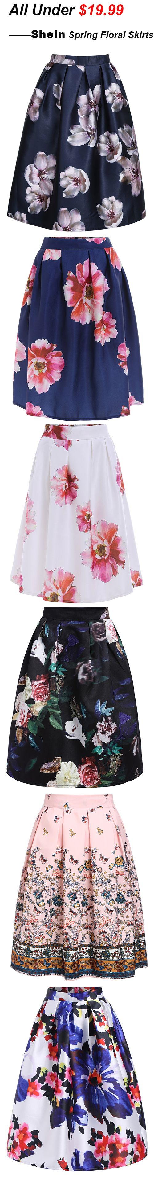 How to Wear with Full Skirts this Summer, Various kinds of Skirts from SheIn.com Check more details :)
