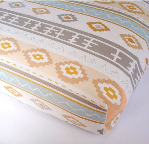 Southwestern CRIB SHEET  Changing Pad Covers / Fitted by Babiease