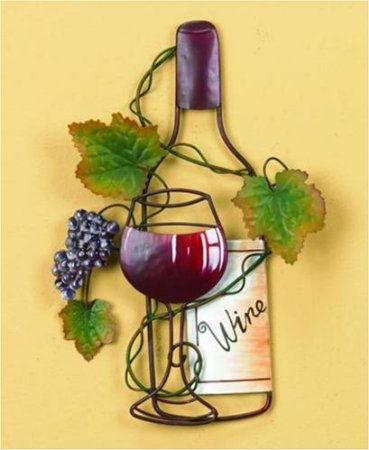Wine Bottle Art Vineyard Kitchen Wall Decor