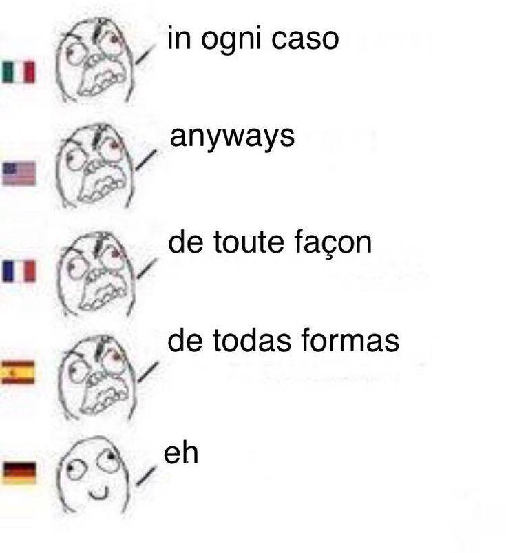 Languages German English French Spanish Language Words Best Memes