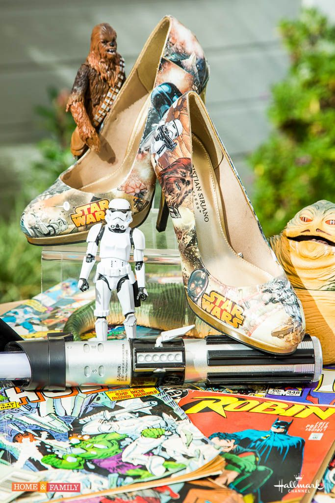 Comic Book Memorabilia - use a pair of old shoes and your favorite comic book to create the coolest pair of shoes ever! DIY by @tmemme28 on Home and Family!